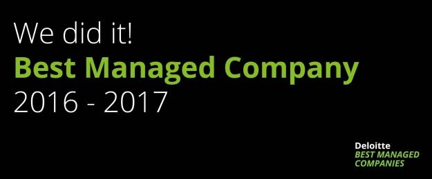 Van Eerd bekroond tot Best Managed Company 2016-2017